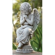 Angel Seated On Pedestal Statue