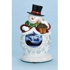 Mus LED Snowman Figurine with Mirror