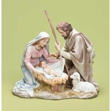 Holy Family Pastel Tabletop Figurine