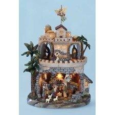 Mus LED Tri-Rotation Nativity Figurine