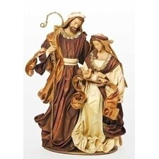 Holy Family Mache Figurine
