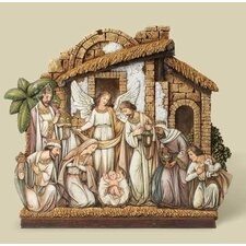 Angel Nativity with Facade Figurine