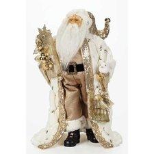 Santa with Fur Coat Figurine