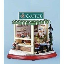 Mus LED Coffee Shop Rotate Figurine