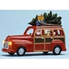 Mus Station Wagon with Santa Figurine