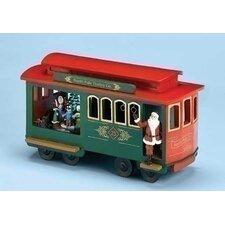 Mus Trolley Cart with Santa Figurine