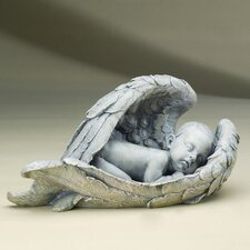 "15"" Sleeping Baby in Wings Figurine"