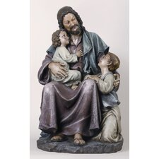 Jesus with Children Figurine
