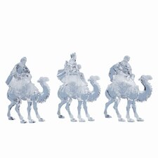 Three Piece Kings on Camel Figurine Set