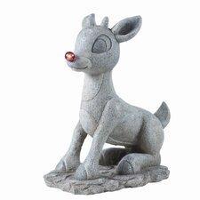 Solar Rudolph Figurine