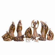 12 Piece Nativity Driftwood Figurine Set