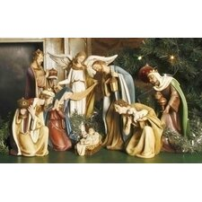 8 Piece Ceramic Nativity Scene
