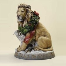 Lion and Lamb Peace on Earth Figurine