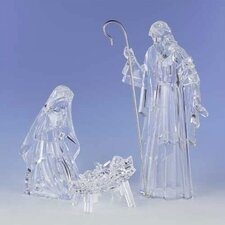 3 Piece Holy Family Set with Crystal Look