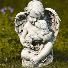 <strong>Roman, Inc.</strong> Cherub with Puppy Statue