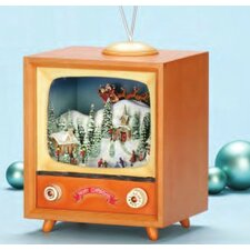 "9"" x 7.5"" Rotating Musical TV Box"