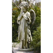 Young Praying Angel Garden Statue