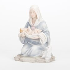 Kneeling Madonna with Child Figurine