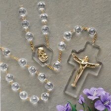 <strong>Roman, Inc.</strong> Crystal Wall Rosary Box Pendant