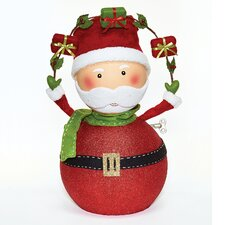 Large Santa with Garland Figurine