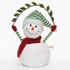 Musical Snowman Figurine with Garland