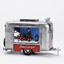 Musical LED Xmas Trailer Figurine