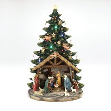 Musical Nativity Light Tree Figurine