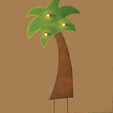 <strong>Roman, Inc.</strong> Lighted Metal Palm Tree Yardart