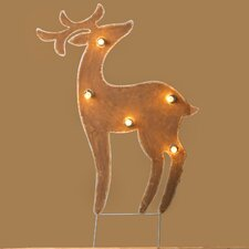 <strong>Roman, Inc.</strong> Lighted Metal Deer Yardart