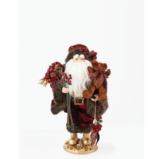 Santa  Figurine with Grape and Wine