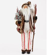 <strong>Roman, Inc.</strong> Led White Fur Santa Figurine