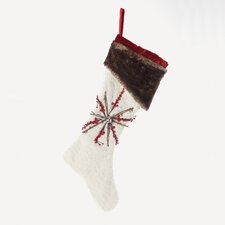 White Fur Santa Stocking