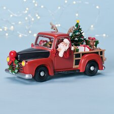 Musical LED Pickup Truck Figurine