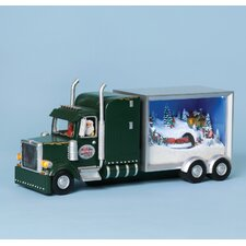 Musical Truck Sleeper Santa Figurine