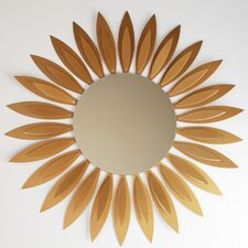 "Contemporary 26"" H x 26"" W Sunflower Wall Mirror"