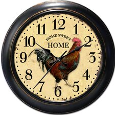 "Decorative Home 18"" Classic Rooster Wall Clock"