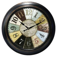 "Decorative Home 18"" Wheel Wall Clock"