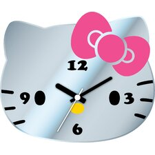 Hello Kitty Mirror Wall Clock