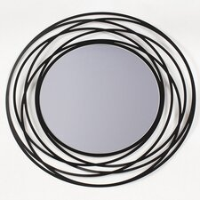 Fluent Round Metal Wall Mirror