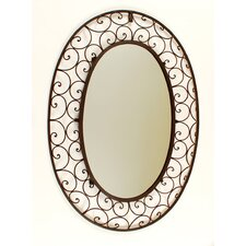 Large Oval Wrought Iron Mirror