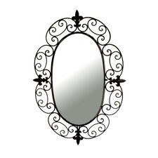 Wrought Iron Oval Wall Mirror
