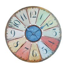 Large Wall Clock in Multicolored