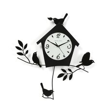 "20"" Birds and Bird House Wall Clock"