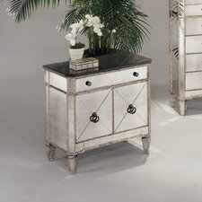 <strong>Bassett Mirror</strong> Borghese Small Mirrored 1 Drawer Chest
