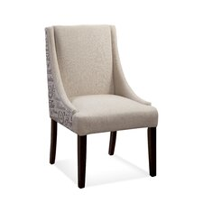 Woodward Scripted Fabric Parson Chair