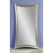 """Concave Silver Leaf """"Leaner"""" Mirror"""