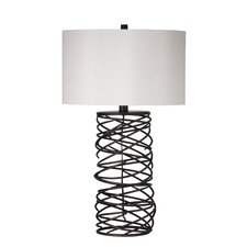 "Whittier 29"" H Table Lamp with Drum Shade"