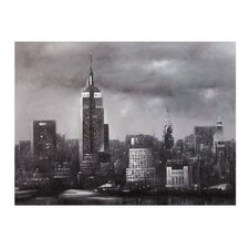 New York at Dust Painting Print on Canvas