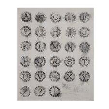 Antique Keys Painting Print on Canvas