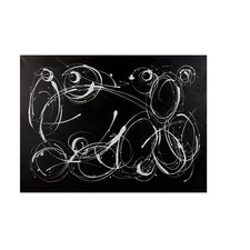 Motion Painting Print on Canvas in Black and White